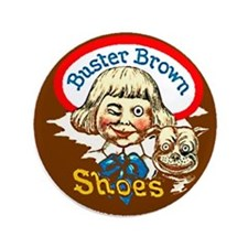 """Buster Brown Shoes #1 3.5"""" Button"""
