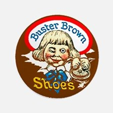 "Buster Brown Shoes #1 3.5"" Button"