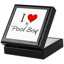 I Love My Pool Boy Keepsake Box