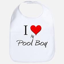I Love My Pool Boy Bib