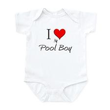 I Love My Pool Boy Infant Bodysuit