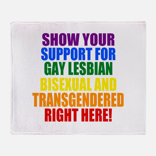 Personalized Rainbow GLBT Gay Flag Throw Blanket