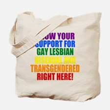 Personalized Rainbow GLBT Gay Flag Tote Bag