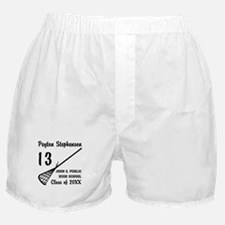 Custom Lacrosse Player Name | School Boxer Shorts