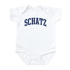 SCHATZ design (blue) Infant Bodysuit