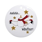 Aahhh Winter Ornament (Round)