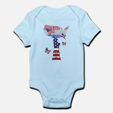 United States Flag and Lady Liberty Body Suit
