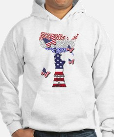 United States Flag and Lady Libe Hoodie