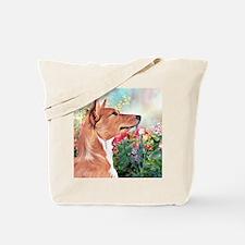 Basenji Painting Tote Bag