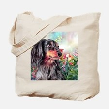 Dachshund Painting Tote Bag