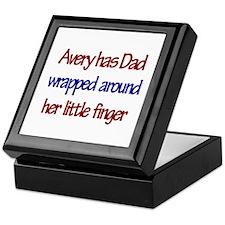 Avery Has Dad Wrapped Around Keepsake Box