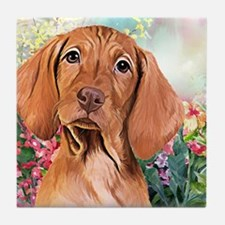 Vizsla Painting Tile Coaster