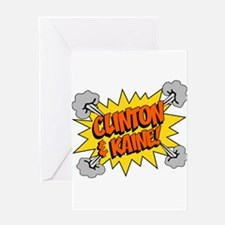 Clinton Kaine 2016 Greeting Cards
