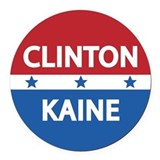 Clinton kaine 2016 Round Car Magnets