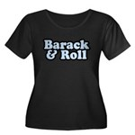 Barack & Roll Women's Plus Size Scoop Neck Dark T-