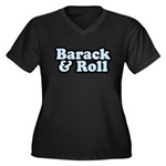 Barack & Roll Women's Plus Size V-Neck Dark T-Shir