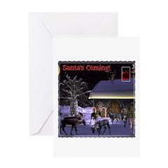 Santa's Coming! Christmas Card