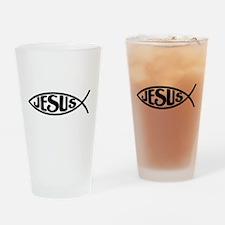 Jesus Fish Jesus Drinking Glass