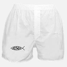 Jesus Fish Jesus Boxer Shorts