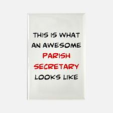 awesome parish secretary Rectangle Magnet