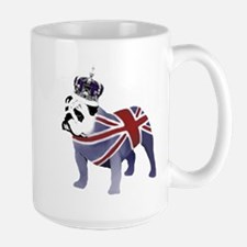 English Bulldog and Crown Mugs