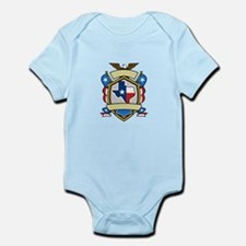 Texas State Map Flag Coat of Arms Retro Body Suit