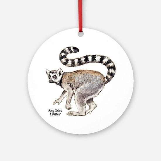 Ring-Tailed Lemur Keepsake (Round)