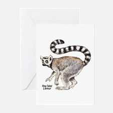 Ring-Tailed Lemur Greeting Cards (Pk of 10)