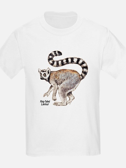 Ring-Tailed Lemur (Front) Kids T-Shirt