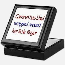 Camryn Has Dad Wrapped Around Keepsake Box