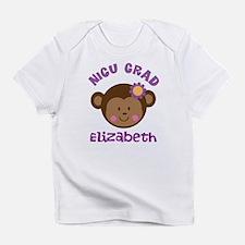 NICU Graduate Baby Girl monkey Infant T-Shirt