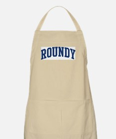 ROUNDY design (blue) BBQ Apron