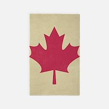 grunge canadian flag Area Rug