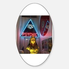 Cute Psychic Sticker (Oval)