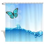 Butterfly Water Shower Curtain