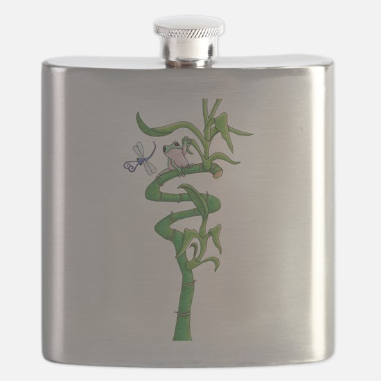 frog in bamboo Flask