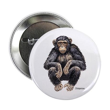 Chimpanzee Monkey Ape Button