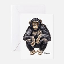 Chimpanzee Monkey Ape Greeting Cards (Pk of 10