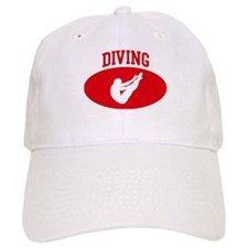 Mens Diving (red circle) Baseball Cap
