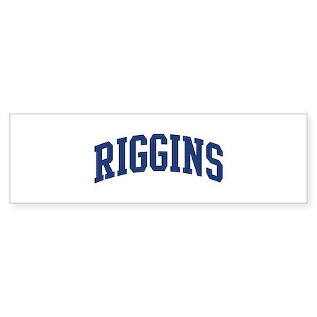 RIGGINS design (blue) Bumper Sticker
