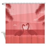 Flamingo Sunset Shower Curtain