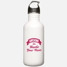 Awesome Like Auntie Pink Water Bottle
