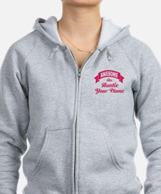 Awesome Like Auntie Pink Zip Hoodie