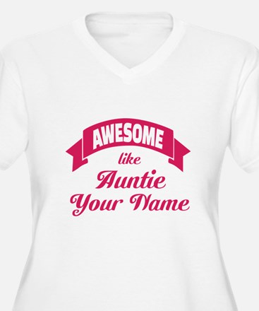 Awesome Like Auntie Pink Plus Size T-Shirt