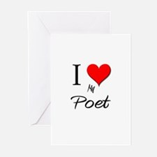 I Love My Poet Greeting Cards (Pk of 10)