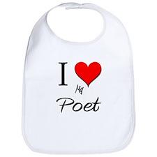 I Love My Poet Bib
