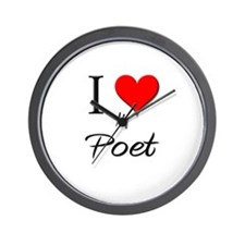 I Love My Poet Wall Clock