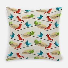 Mid Century Birds Everyday Pillow