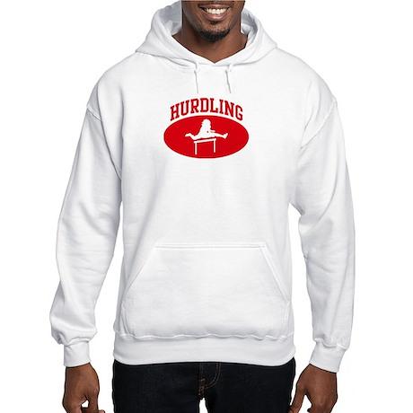 Hurdling (red circle) Hooded Sweatshirt