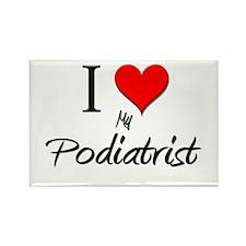 I Love My Podiatrist Rectangle Magnet